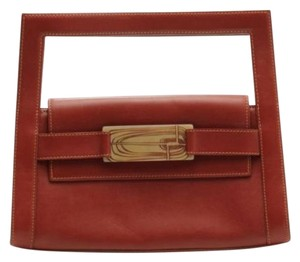 Fiori Coleccion Handbag Leather brown Clutch