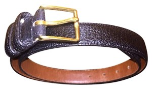 Coach Mens Coach Pebbled Leather Belt Size 32/80 cm