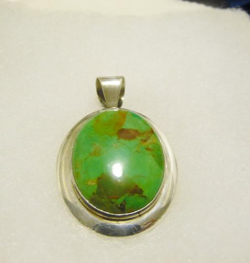 Mine Finds by Jay King Jay King .925 DTR .925 Large Mojave Green Turquoise Pendant
