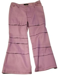 Atsuro Tayama High Waist Summer Capri/Cropped Pants Lilac purple