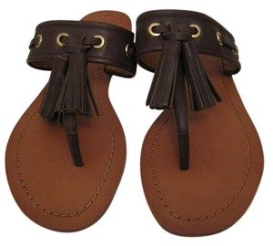 Coach Tassels Size 5.5 Flats Brown Sandals