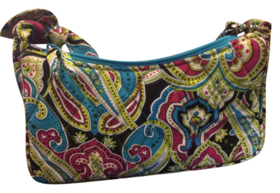 791c1e48007d Vera Bradley Silk Daphne Retired Multi - Paisley Cotton Shoulder Bag ...