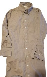 American Apparel Xs Shirt Dress Collared Button Down Shirt Gray