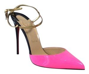Christian Louboutin *needs Repair* Rivierina 100mm Heels Shocking Pink Pumps