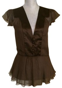 Diane von Furstenberg Dvf Silk Size 8 Top Brown