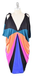 Mara Hoffman short dress Rainbow Draped Cold-shoulder Mini on Tradesy