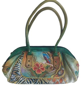 Anuschka Butterfly Shoulder Tote in Handpainted