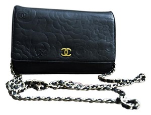 Chanel Camellia Print Wallet Cross Body Bag