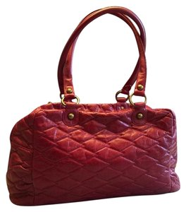 Hobo International Duffle Quilted Satchel in Red