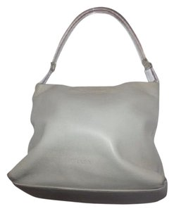 Prada Mint Vintage Retro Mod Style Has Tags/dust Dressy Or Casual Satchel in cream leather/clear Lucite handle