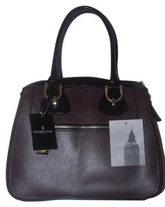 London Fog Satchel in Bordeaux