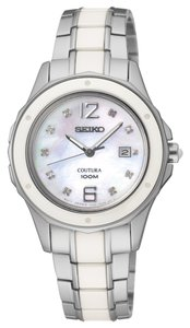Seiko Seiko Female Dress Watch SXDE85 Mother Of Pearl Analog