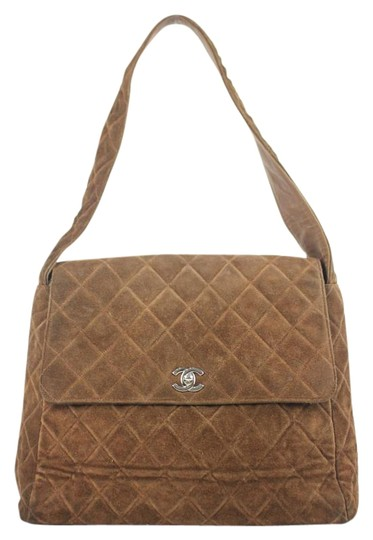 Chanel Quilted Single Flap Maxi Silver Shoulder Bag