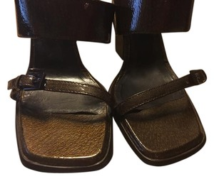 Gucci Chocolate Brown with Sparkle Sandals