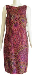 Ralph Lauren Silk Paisley Sheath Dress