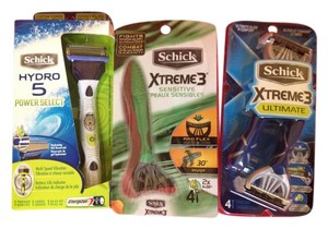 Schick 3 Peice Schick Razor Lot-All NEW/PACKAGES-Retail All-$36.97