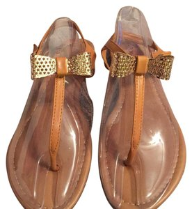 Pierre Dumas Light brown with gold bow Sandals