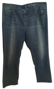 New York & Company Relaxed Fit Jeans-Distressed