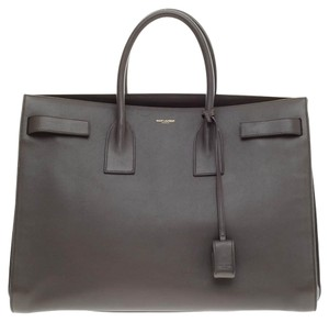 Saint Laurent Sac De Jour Leather Large Tote in Gray