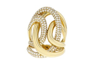 Other 1.56ct Diamond 18k Yellow Gold Interlocking Ring