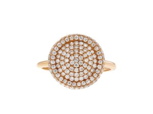 Other 0.66ct Diamond 14k Rose Gold Circle Ring