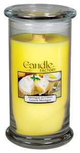 The Candle Factory The Candle Factory Large 15-ounce Jar Crackling Candle, Lemon Meringue