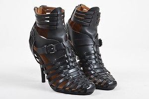 Givenchy Leather Cage Black Sandals