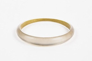 Alexis Bittar Alexis Bittar Gray Lucite Skinny Tapered Bangle 1
