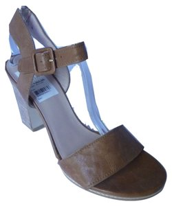 Stuart Weitzman Leather Platform Wedge Adobe Vecchio Nappa Sandals