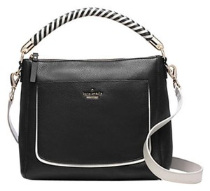 Kate Spade Harris Woods Drive Tote Satchel in Black/white