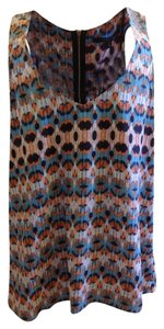 19 Cooper Multi Color Nordstrom Blouse Ikat Sleeveless Top