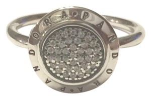 PANDORA size 8, sterling silver, ALE, CZ, signature ring