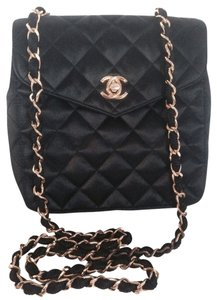 Chanel Quilted Mini Satin With Gold Chain Vuitton Hermes Prada Gucci Burberry Tory Burch Kors Cross Body Bag