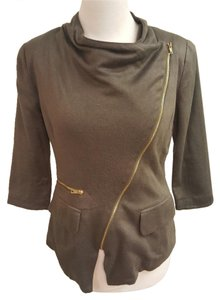 Cartonnier Anthropologie Asymmetrical Moss Jacket Green Blazer