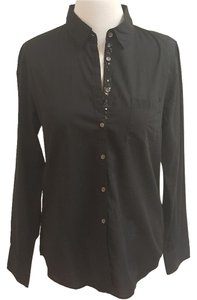 J.Crew Sequin Boy Shirt Button Down Shirt Black