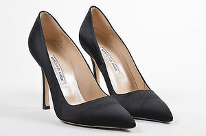 Manolo Blahnik Satin Black Pumps