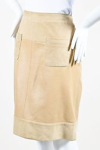 See by Chlo Chloe Leather Skirt Tan