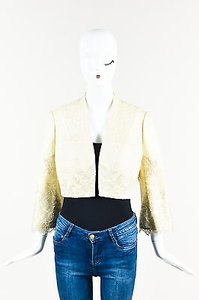 KC Collections Kay Unger Silver Tweed Cream Jacket