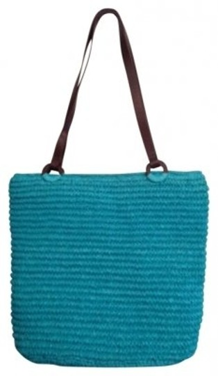 Preload https://img-static.tradesy.com/item/180229/talbots-purse-turquoise-paper-straw-and-leather-shoulder-bag-0-0-540-540.jpg