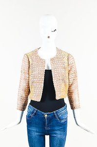 Kay Unger Red White Gold Multi-Color Jacket