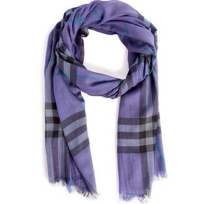 Burberry Authentic Burberry Scarf In Purple And Black!