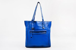 Halston Heritage Grained Tote in Blue