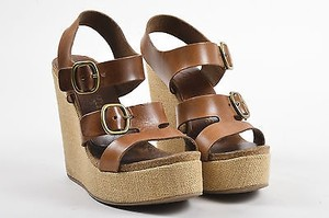 Pedro Garcia Beige Brown Sandals