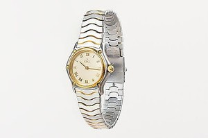 Ebel Ebel Stainless Steel 18k Yellow Gold Two Tone Mini Quartz Watch