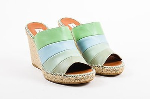 Valentino Blue Leather Green Sandals