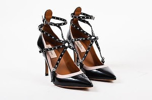 Valentino Nude Patent Black Pumps
