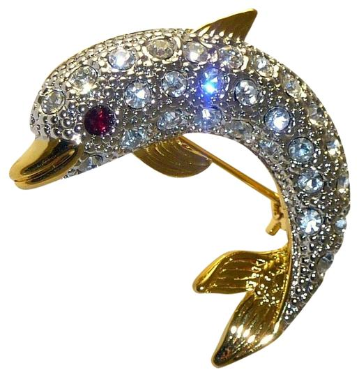 Preload https://img-static.tradesy.com/item/1802461/gold-plated-new-sparkling-signed-dolphin-pinbrooch-made-in-usa-0-1-540-540.jpg