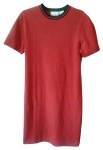 Liz Claiborne Shirt Large Tshirt Style Red Wool Straight Career Preppy Casual Classic Dress
