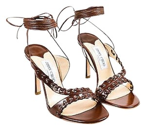 Jimmy Choo Leather Brown Sandals