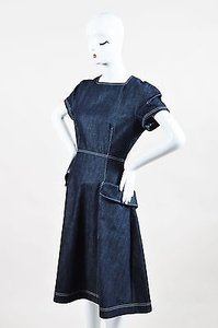 Dior short dress Blue Christian Dark Denim Apron Pocket Ss Heritage on Tradesy
